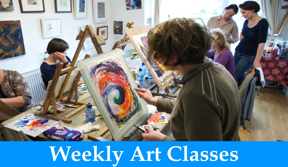 weekly art classes button