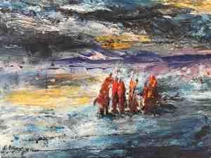 Fringe Thurs pm Siobhan Hollian painting